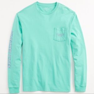 Vineyard Vines Marlin Pocket Long Sleeve Tee